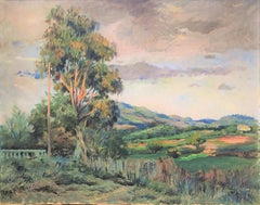 Spanish landscape oil on canvas painting impressionist