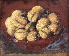 Walnuts still life original oil on canvas painting