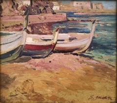 Costa Brava beach Spain oil painting seascape