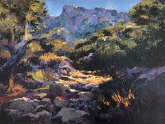 Landscape Mallorca Spain oil on canvas painting
