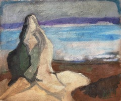 Lot's wife original oil and sand on canvas painting landscape