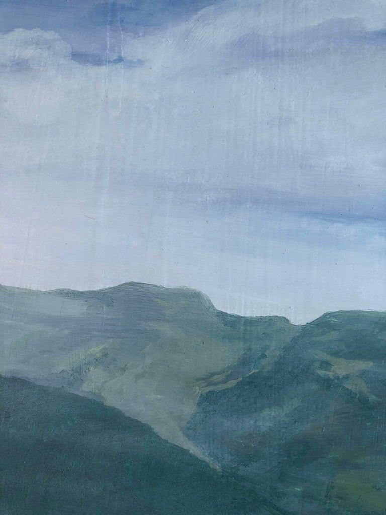 Mountain road Valle de Aran oil on board landscape For Sale 1
