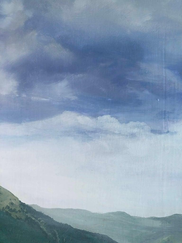 Mountain road Valle de Aran oil on board landscape For Sale 2