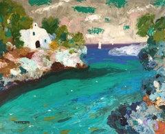Cala d'Or Mallorca spanish seascape oil on canvas painting