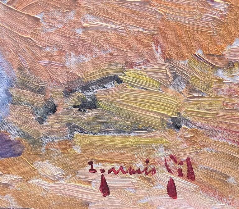 Maternity in Ibiza beach original oil on canvas painting - Painting by Ignacio Gil Sala