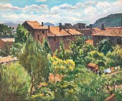 Catalan landscape Spain original oil on canvas painting