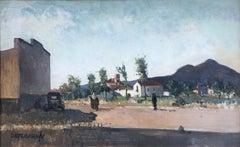 Rafael Durancamps rural view landscape, Spain, oil canvas painting