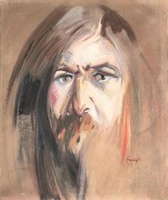 Self portrait original oil on canvas painting