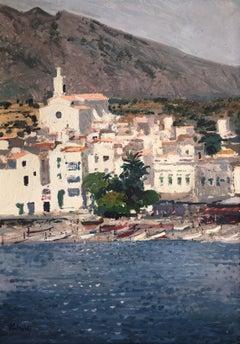 seascape of Cadaqués Spain oil on canvas painting