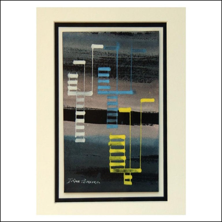 ABSTRACT female WPA American Abstract Artists drawing non-objective mid century - Mixed Media Art by Irene Rice Pereira