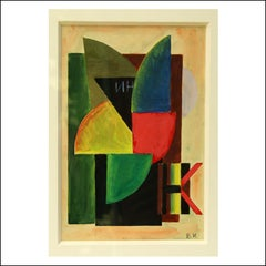 Russian Constructivist 1920s abstract modern watercolor modernist non-objective