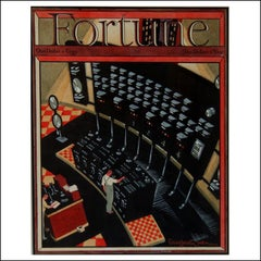 Fortune Magazine cover, Depression-Era Illustration, WPA industrial Modernist