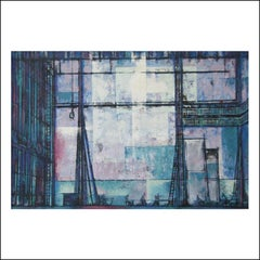 """Backstage, Ambassador"" Broadway Theatre NYC Mid-century Modern Modernist Cubist"