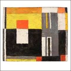 ABSTRACTION Mid-Century Abstract Non-Objective Color Field oil American Modern