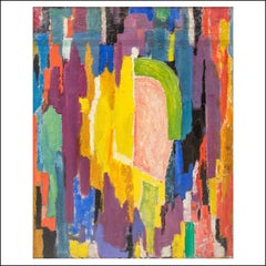 """""""Abstraction"""" Mid-Century Abstract Non-Objective Color Field oil painting modern"""