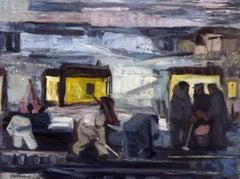 WORK GANG American Scene Modernist Regionalism Industrial WPA 1940s Mid Century