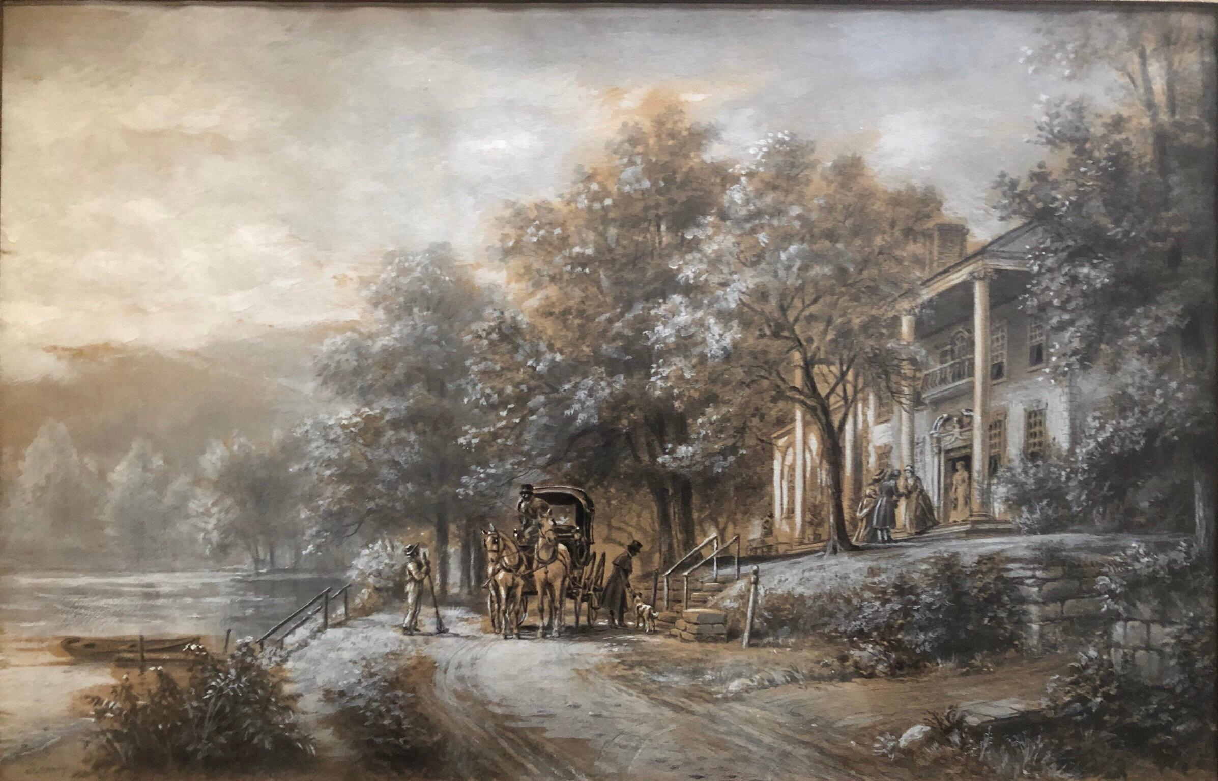 """""""Visit to the Plantation,"""" 19th Century Southern Genre Scene"""