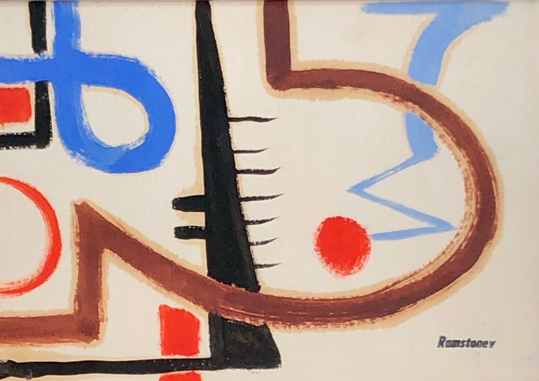 MODERNIST DRAWING New Hope Mid-Century WPA Abstract Non-Objective Jazz Modern
