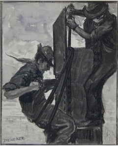 """""""Riveting the Post"""" WPA Modernism Provincetown Early 20th Century Industrial Art"""