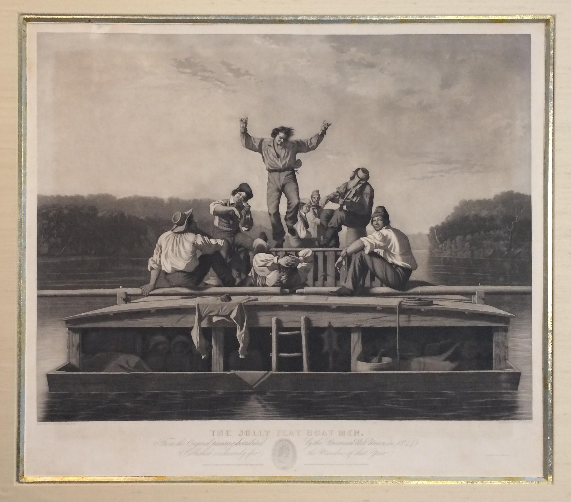 """""""The Jolly Flatboatmen,"""" Mississippi River Frontier Old West, Louisiana Purchase"""