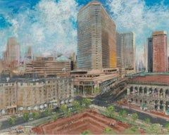 """Copley Square, Boston,"" Kamil Kubik Massachusetts Cityscape Street Scene"