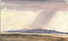 """Cloudburst Near San Patricio, New Mexico,"" Peter Hurd, Watercolor Landscape"