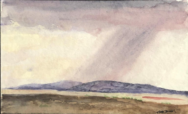 """Cloudburst Near San Patricio, New Mexico,"" Peter Hurd, Watercolor Landscape - Art by Peter Hurd"