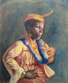 """A Martinique Native in French Guyana,"" Black Female Portrait, Female Artist"