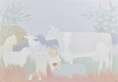 """Peaceable Kingdom I,"" Rosamond Berg, Animals with Little Girl, Edward Hicks"