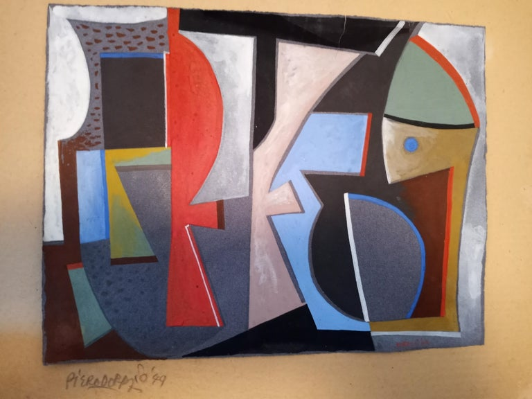 Italian Abstract Work on Paper Color Field Non-Objective European Mid-Century - Painting by Piero Dorazio