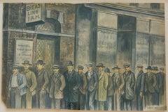 ON LINE Depression Era WPA American Scene Modernism Realism Drawing Watercolor
