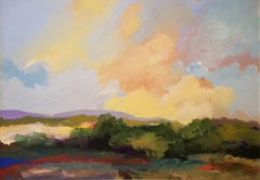 """New England Landscape,"" James Grabowski, View of Connecticut Hills in the Sun"
