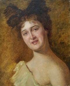 """Portrait of a Lady,"" Vlaho Bukovac, Croatian Artist"