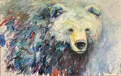 """Bushy Bear,"" Alvin Amason, Colorful Polar Bear in the Alaska Arctic, Animals"