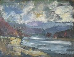 """""""Mohansic Lake, Westchester, New York,"""" John Hansegger, Modernist Landscape"""