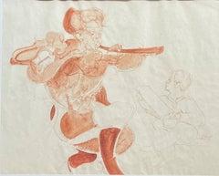 """Figures,"" Melecio Galvan, Modern Mexican Anti-War Artist, Social Justice"
