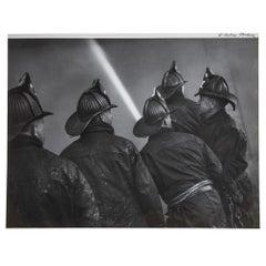 Fine Fireman 1940s Mid Century WPA Modernism Baltimore Black & White Photograph