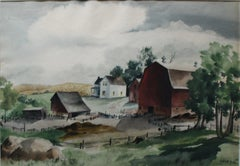 """Deserted Farmyard, Minnesota, 1938,"" Rural Midwestern Great Depression Scene"