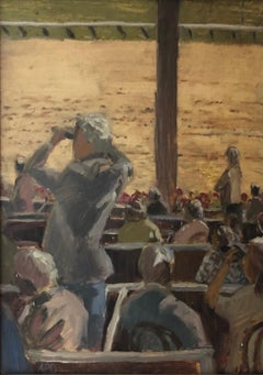 From the Boxes - View of Racetrack and Crowd, Saratoga Springs, New York