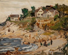 """Folley Cove Studio, Gloucester, Massachusetts"" Female American Modernist"