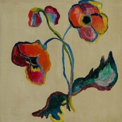 """Flower Still Life, Door Wing,"" German Expressionism with Provenance"