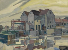 """Factory on the River,"" Modernist WPA Industrial New York Scene"