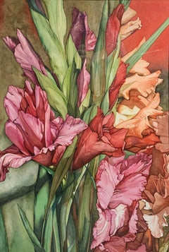 Floral Bouquet Still Life, Contemporary Upstate New York Watercolor Artist