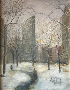 Flatiron Building New York City Contemporary Impressionism Realism Guy Wiggins