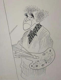 """Marc Chagall"" Original Drawing Illustration Caricature William Saroyan book"