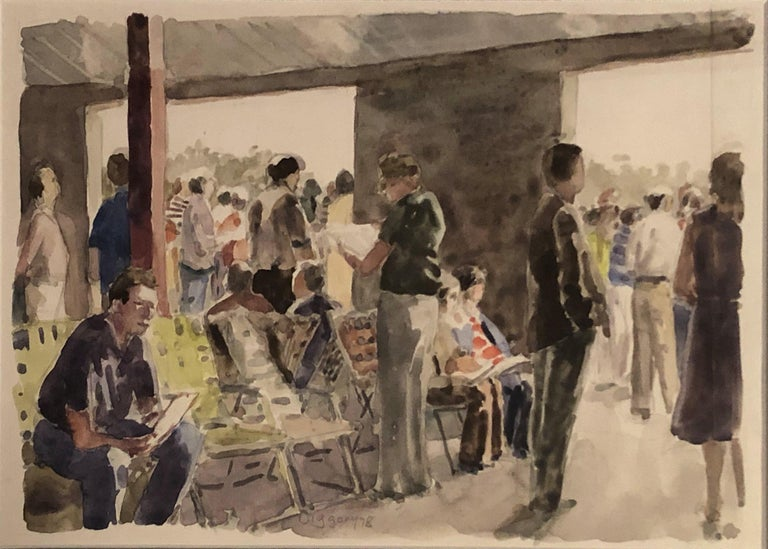 Out of the Sun (Under the Racetrack Grandstand), Saratoga Springs, Anne Diggory - Art by Anne Diggory