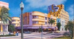 """""""The Cardozo, Miami Beach, Florida,"""" Kathleen Piunti, Sunny Street Scene"""