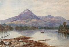 """Lake George, Adirondack Mountains"" Hudson River School, Pre-Raphaelite"