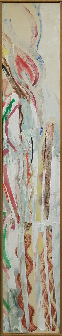 """Speedy Run #1,"" Susan Tunick, Long Abstract Expressionist Painting"
