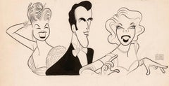 Original TV Guide Illustration Caricature Esther Williams John Raitt Dinah Shore